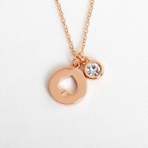 Kate Spade Spot the Spade necklace (Rose Gold)
